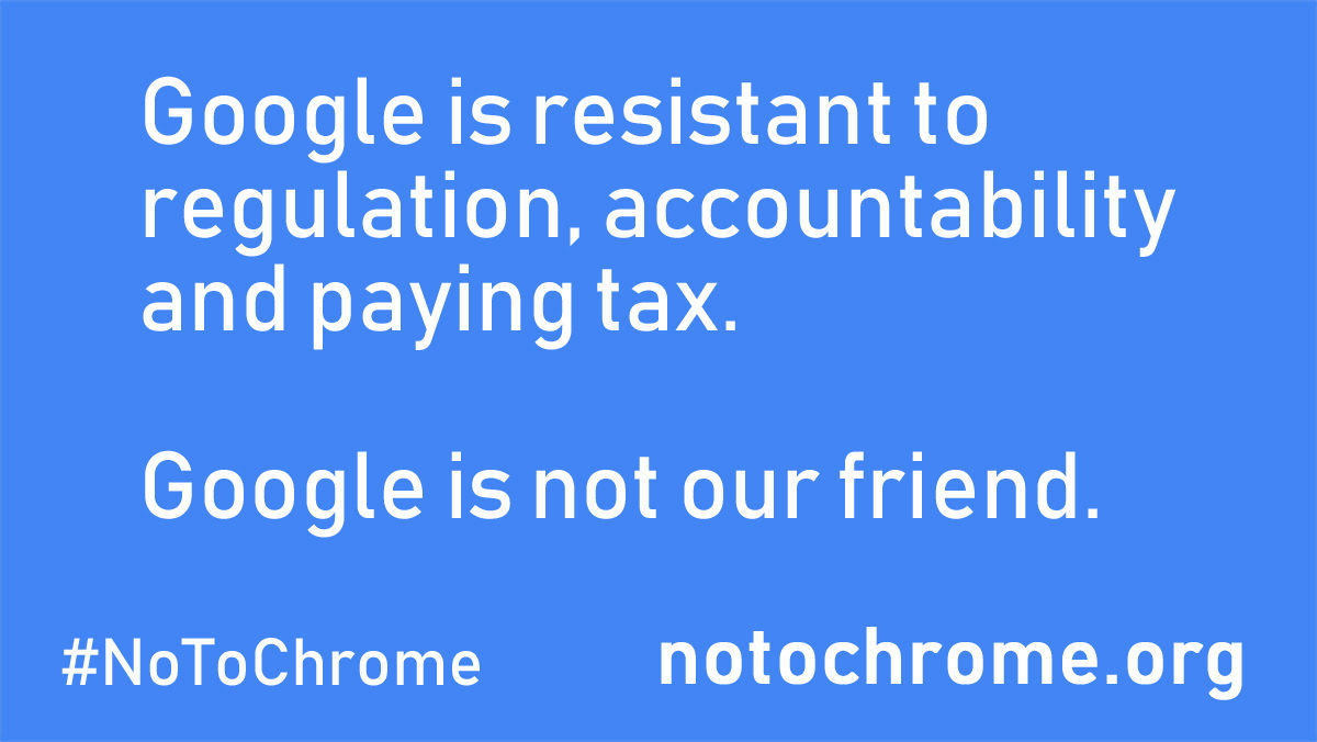 No to Chrome