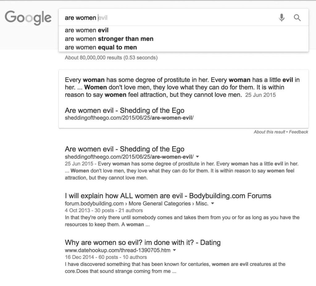 google search 'women'